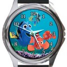 Cute Finding Nemo and Dory Round Metal Watch