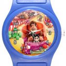 Funny Wreck It Ralph Blue Plastic Watch