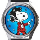 Snoopy Elvis Presley Round Metal Watch