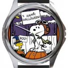 Snoopy Happy Halloween Boo Round Metal Watch