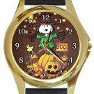 Snoopy Halloween Gold Metal Watch
