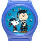 Snoopy Happy Graduation Blue Plastic Watch