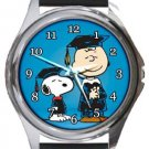 Snoopy Happy Graduation Round Metal Watch