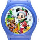 Mickey Mouse It's Christmas Time Blue Plastic Watch