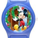 Mickey Welcome Christmas Blue Plastic Watch