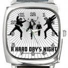 A Hard Day's Night Square Metal Watch