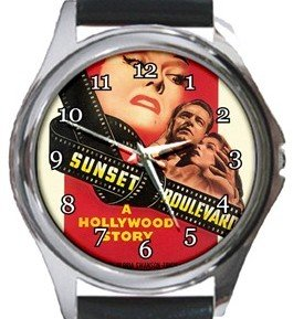 Sunset Boulevard Round Metal Watch