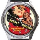 Sunset Boulevard Round Metal Watch
