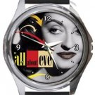 All About Eve Round Metal Watch