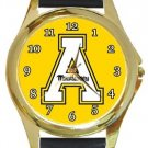 Appalachian State Mountaineers Gold Metal Watch
