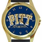 University of Pittsburgh Panthers Gold Metal Watch