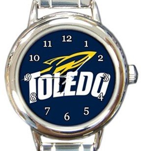 University of Toledo Rockets Round Italian Charm Watch