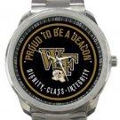 Wake Forest University Deacon Demons Sport Metal Watch