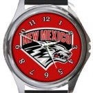 The University of New Mexico Lobos Round Metal Watch