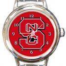 NC State Wolfpack Round Italian Charm Watch