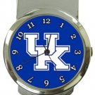 The University of Kentucky Wildcats Money Clip Watch