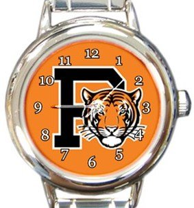 Princeton Tigers Round Italian Charm Watch