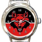 Arkansas State Red Wolves Round Italian Charm Watch