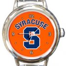 Syracuse Orange Round Italian Charm Watch