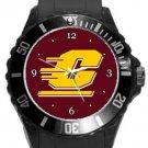 Central Michigan Chippewas Plastic Sport Watch In Black