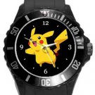Cute Pikachu Plastic Sport Watch In Black