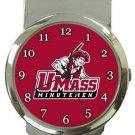 The University of Massachusetts Minutemen Money Clip Watch