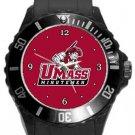 The University of Massachusetts Minutemen Plastic Sport Watch In Black