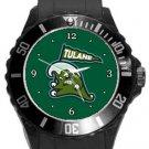 Tulane Green Wave Plastic Sport Watch In Black