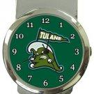 Tulane Green Wave Money Clip Watch