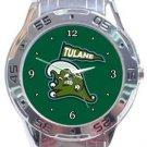 Tulane Green Wave Analogue Watch