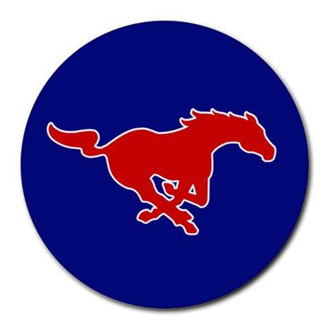 Southern Methodist University SMU Mustangs Heat-Resistant Round Mousepad