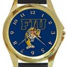 Florida International University FIU Panthers Gold Metal Watch