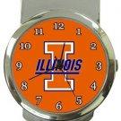 University of Illinois Fighting Illini Money Clip Watch
