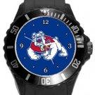 Fresno State Bulldogs Plastic Sport Watch In Black