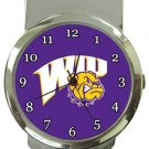 Western Illinois WIU Leathernecks Money Clip Watch