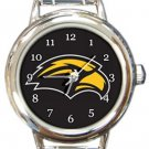 Southern Mississippi Golden Eagles Round Italian Charm Watch