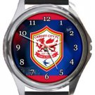 Cardiff City FC Round Metal Watch