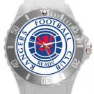 Glasgow Rangers Football Club Plastic Sport Watch In White