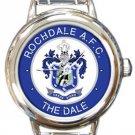 Rochdale AFC The Dale Round Italian Charm Watch
