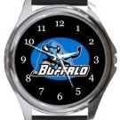 Buffalo Bulls Round Metal Watch