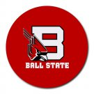 Ball State Cardinals Heat-Resistant Round Mousepad