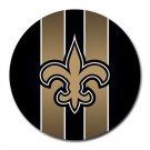New Orleans Saints Heat-Resistant Round Mousepad
