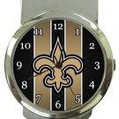 New Orleans Saints Money Clip Watch