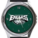 Super Cool Philadelphia Eagles Round Metal Watch