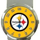Pittsburgh Steelers Money Clip Watch
