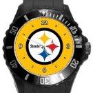 Pittsburgh Steelers Plastic Sport Watch In Black