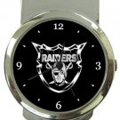 Oakland Raiders Money Clip Watch