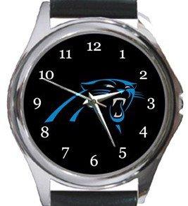 The Carolina Panthers Round Metal Watch