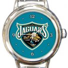 The Jacksonville Jaguars Round Italian Charm Watch