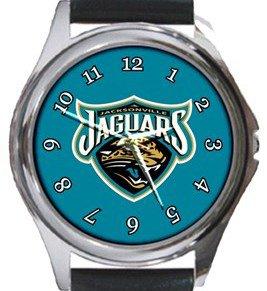 The Jacksonville Jaguars Round Metal Watch